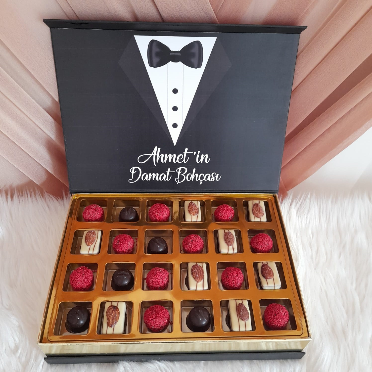 Damat Bohça Çikolatası fotoğraflı