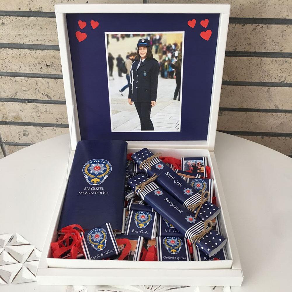 Polis Çikolatası Yeni Mezuna