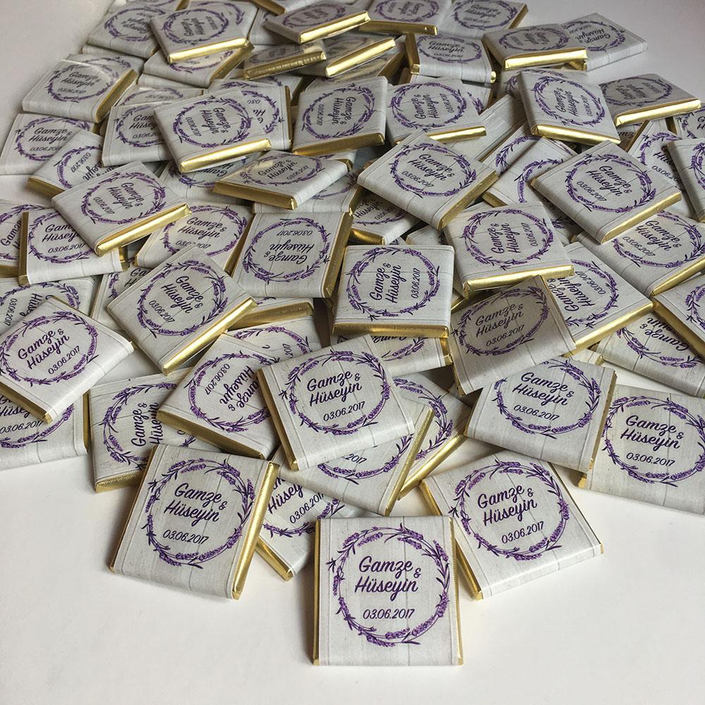Kişiye Özel Dökme Çikolata- Lavanta