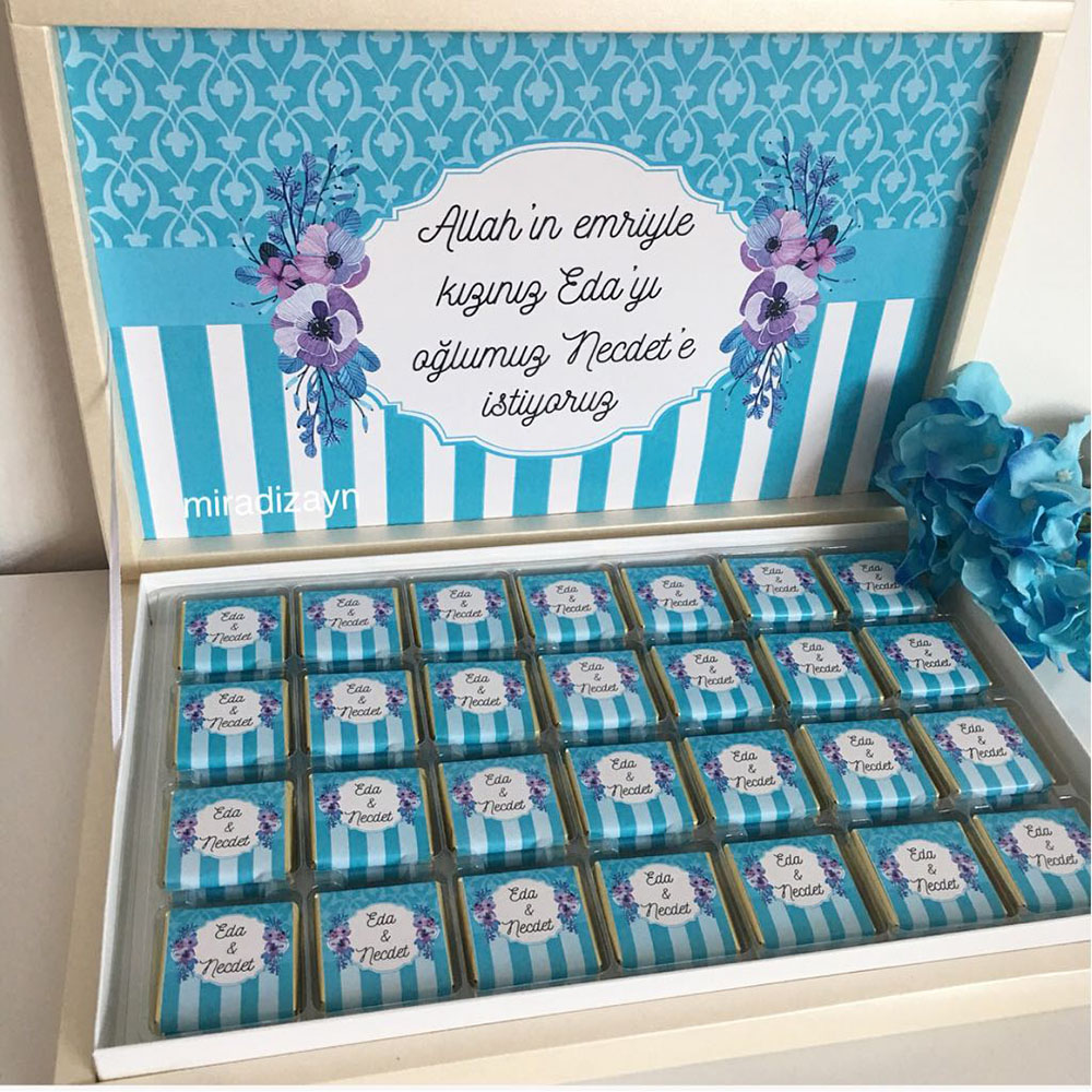 Kız İsteme Çikolatası-Mavi