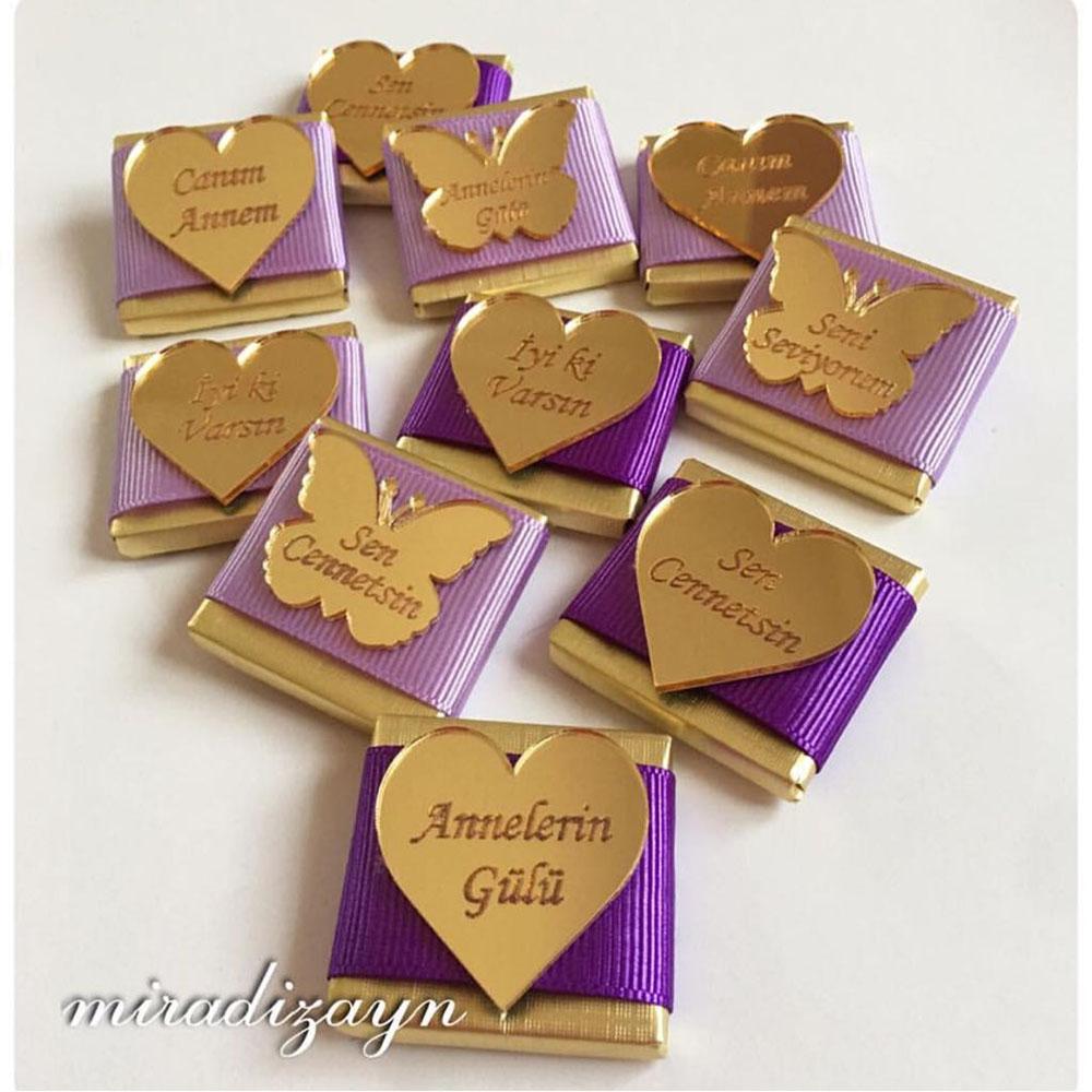 Pleksi Aynalı Madlen Çikolata