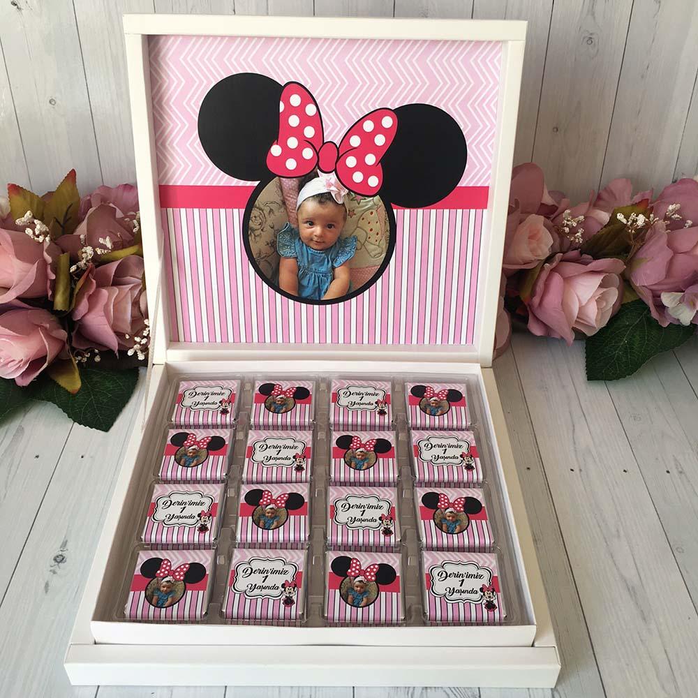 Fotoğraflı Bebek Çikolatası-Minnie
