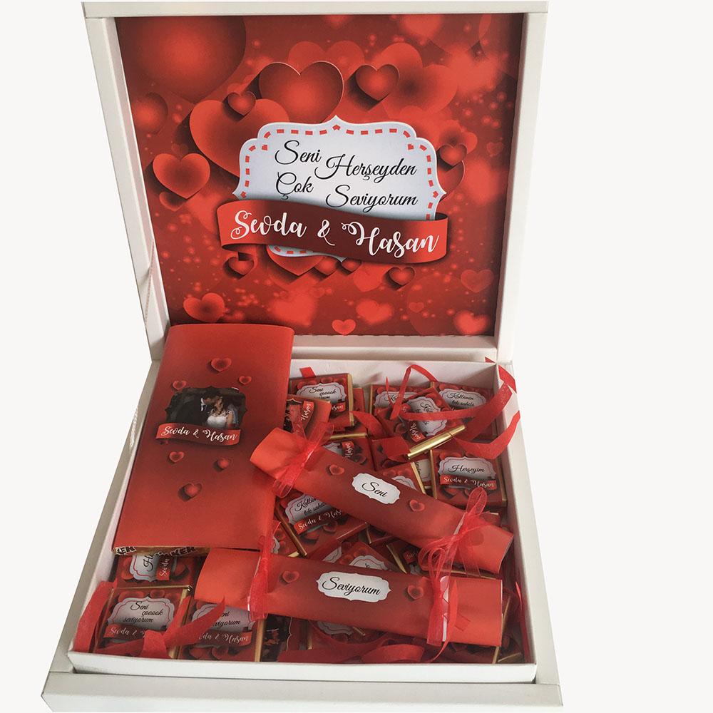 Seni Seviyorum Çikolata Paketi