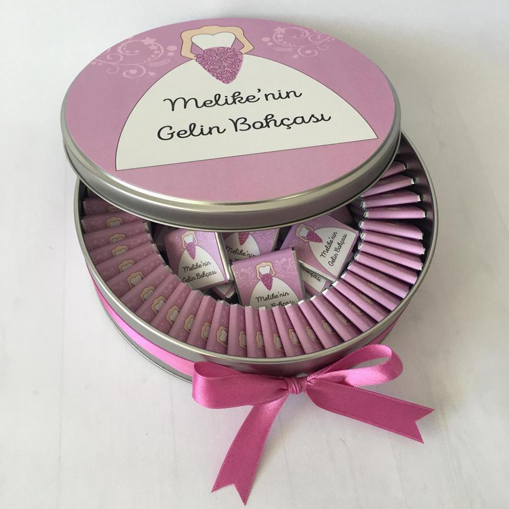 Gelin Bohça Çikolatası metal kutulu