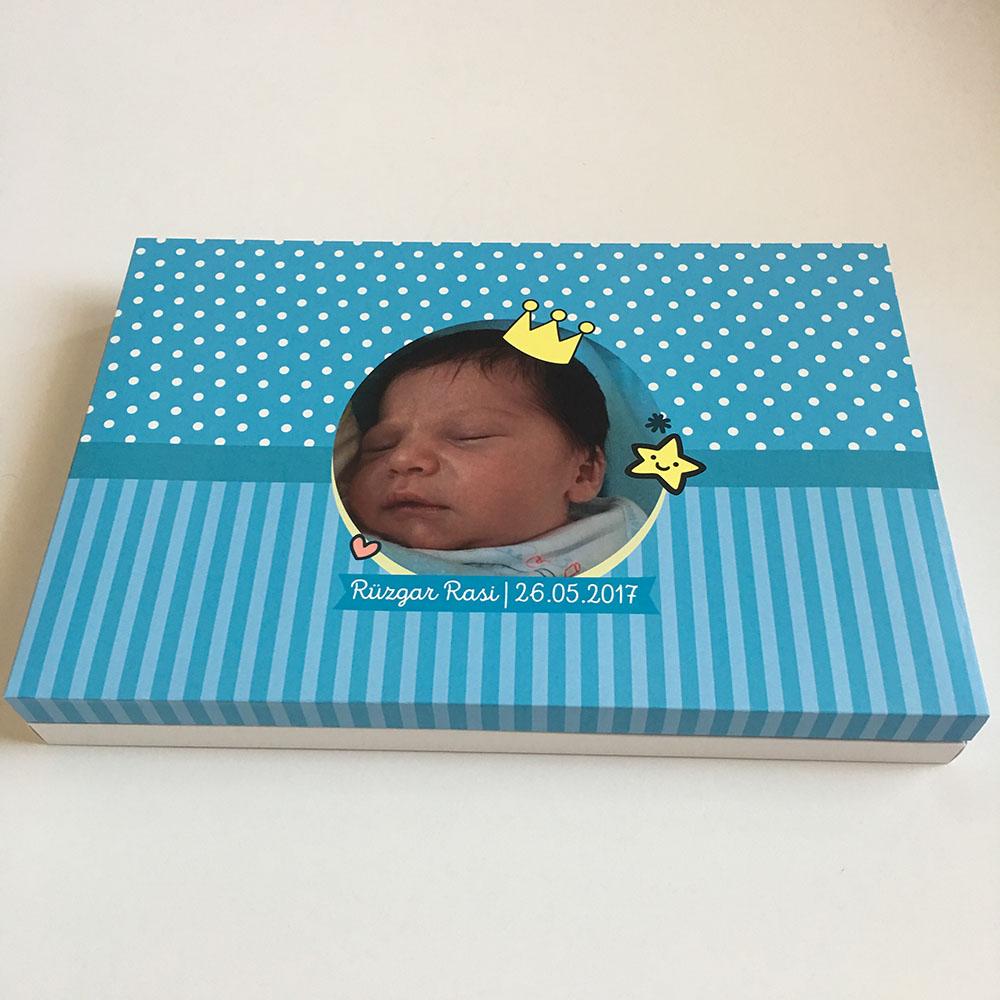 Fotoğraflı Bebek Çikolatası - Erkek Bebek