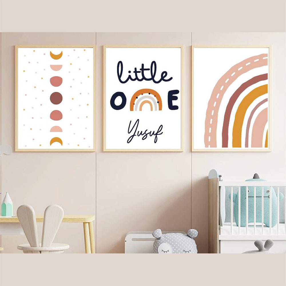 Bebek Odası Çerçeve Seti, Gökkuşağı Çerçeve