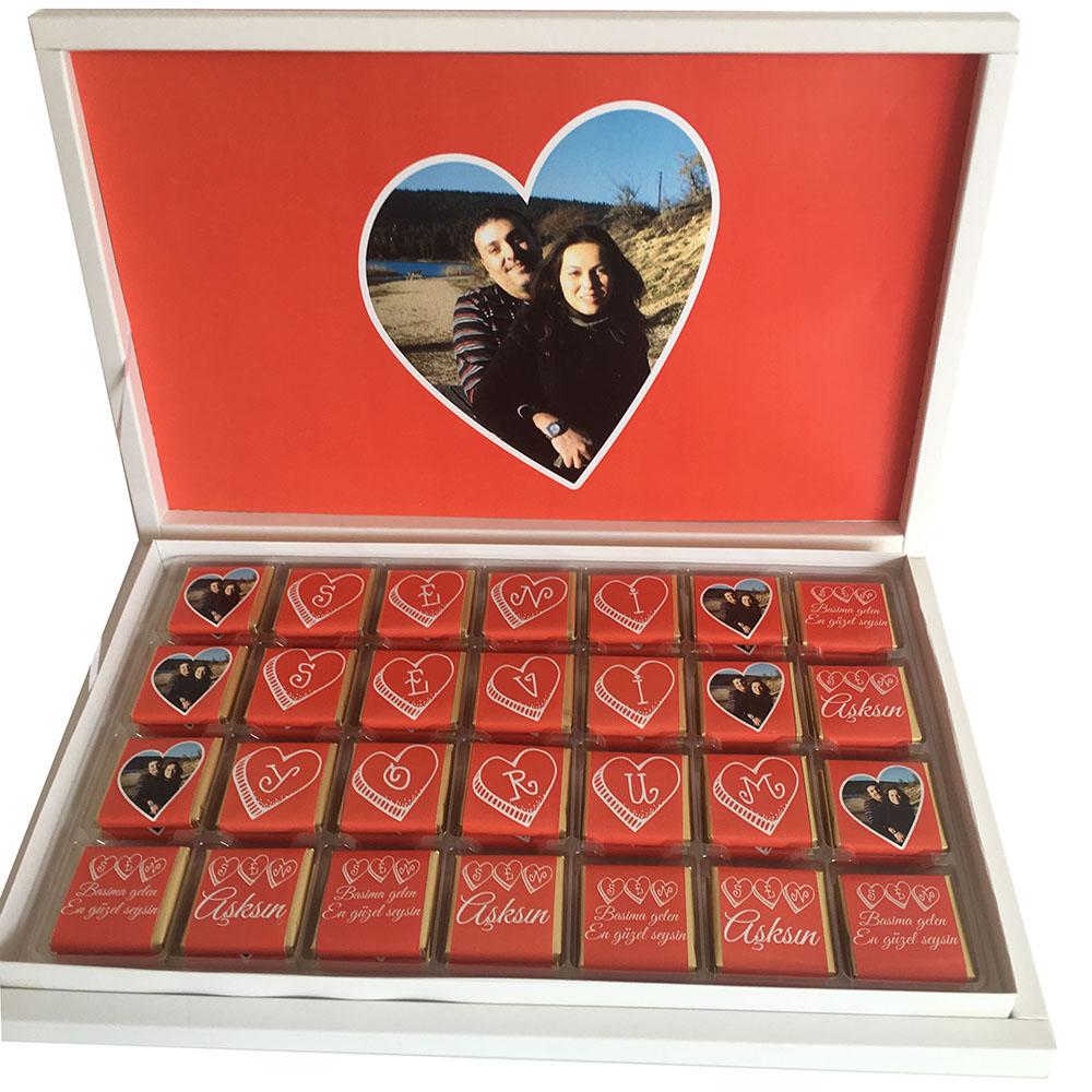 Sevgiliye Seni Seviyorum Çikolatası
