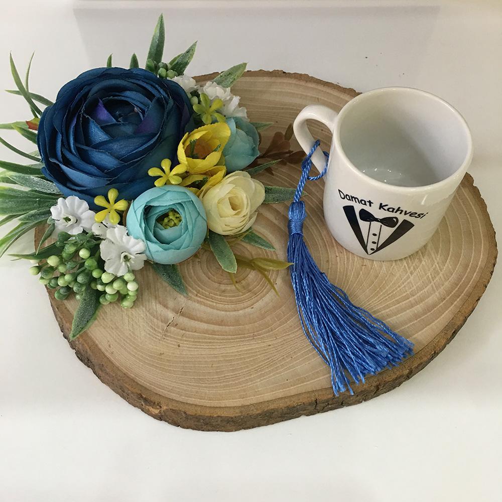 Damat Kahve Tepsisi-Kütük