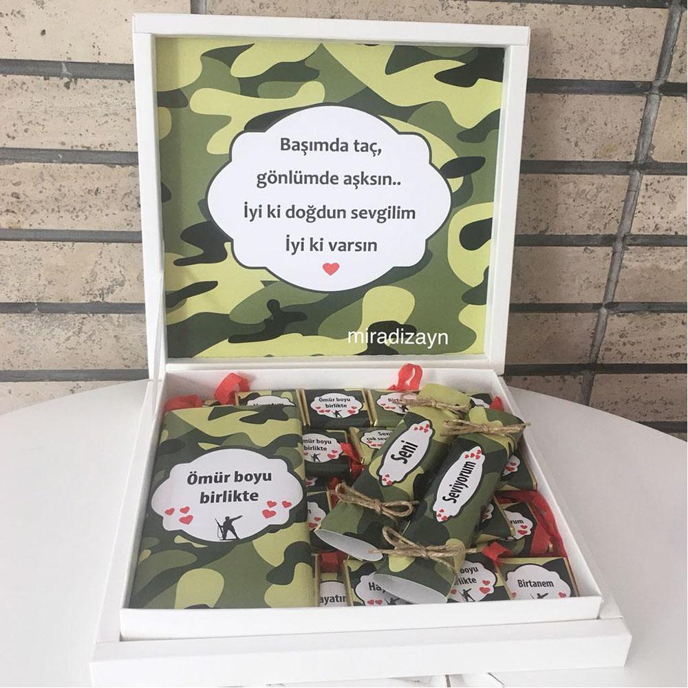 Asker Çikolatası -Sevgiliye Hediye