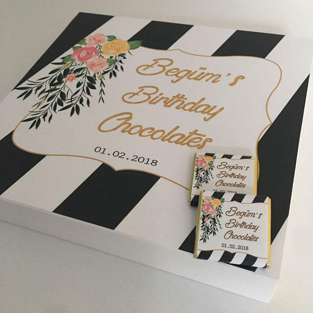 Doğum Günü Çikolatası-Altın Siyah