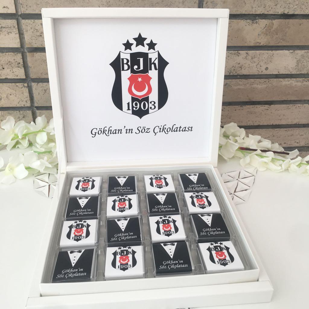 Beşiktaş Fotoğraflı Damat Bohça Çikolatası