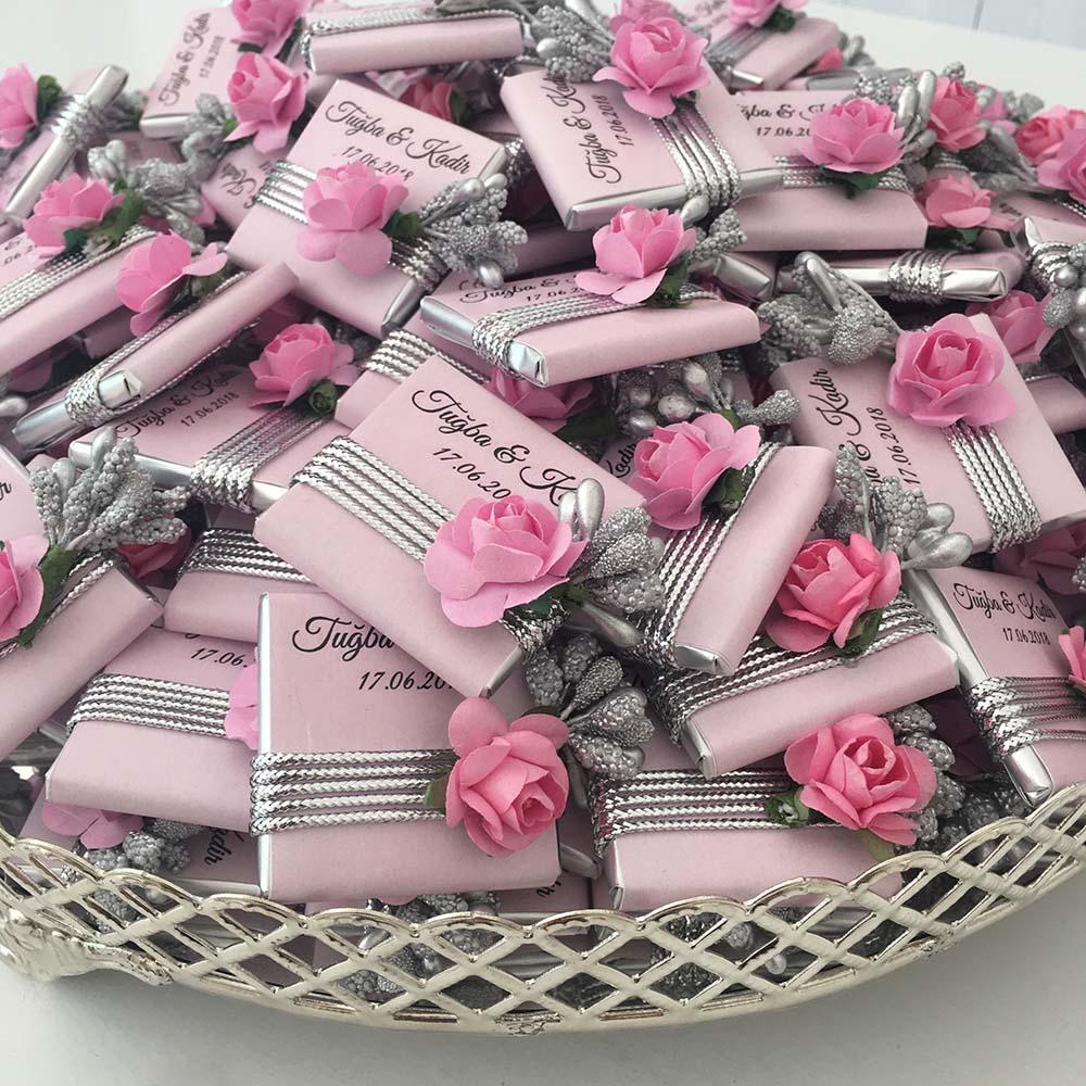 Çiçekli Söz Nişan Kız isteme Çikolatası