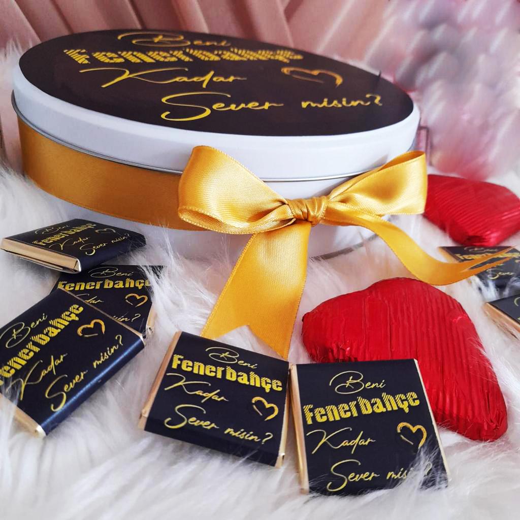 Sevgiliye taraftar çikolatası, Fenerbahçeli ,sevgiliye hediye, sevgililer günü çikolatası