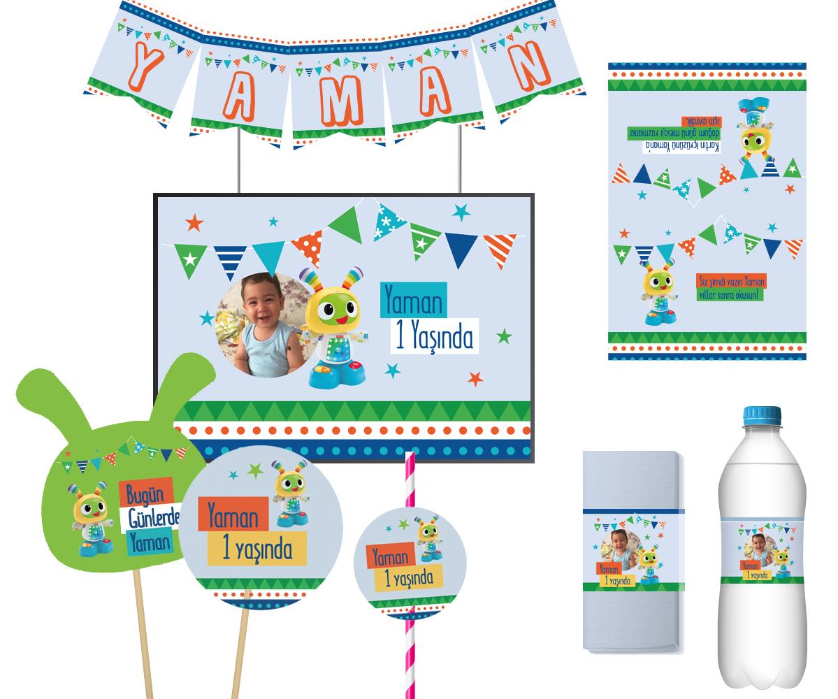 1 yaş Doğum Günü Parti Seti