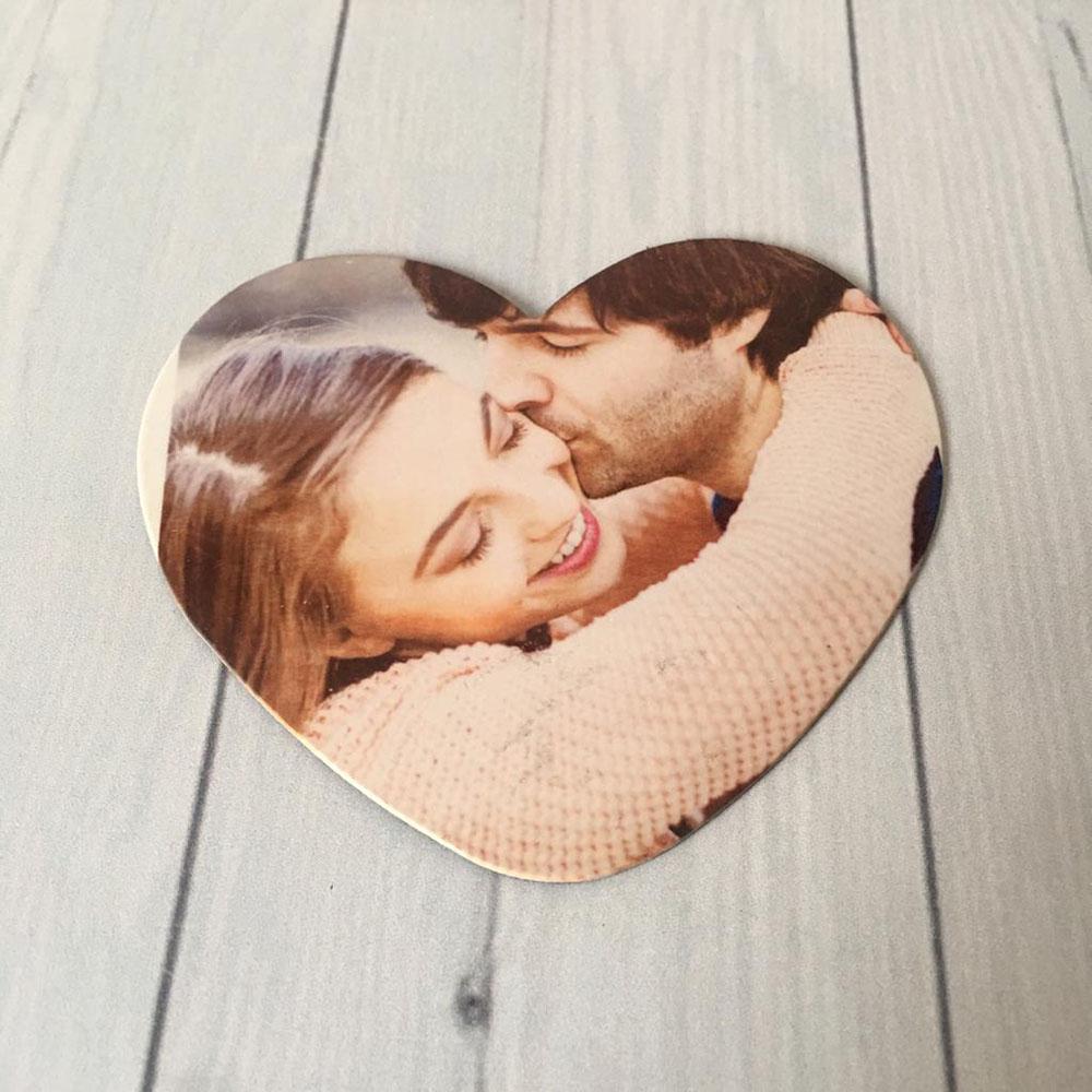Kişiye Özel Fotoğraf Baskılı Kalp Magnet