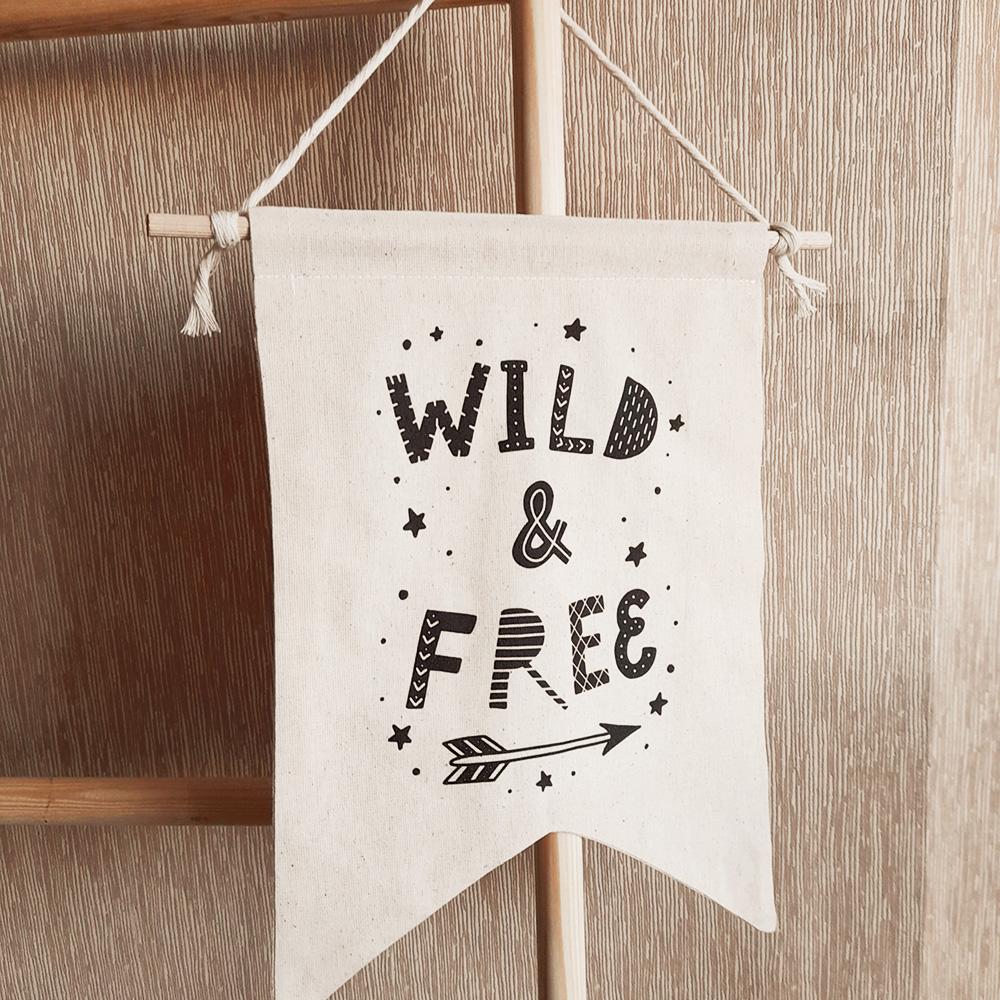 Bebek-Çocuk Odası Dekoratif Flama, Wild &Free Flama