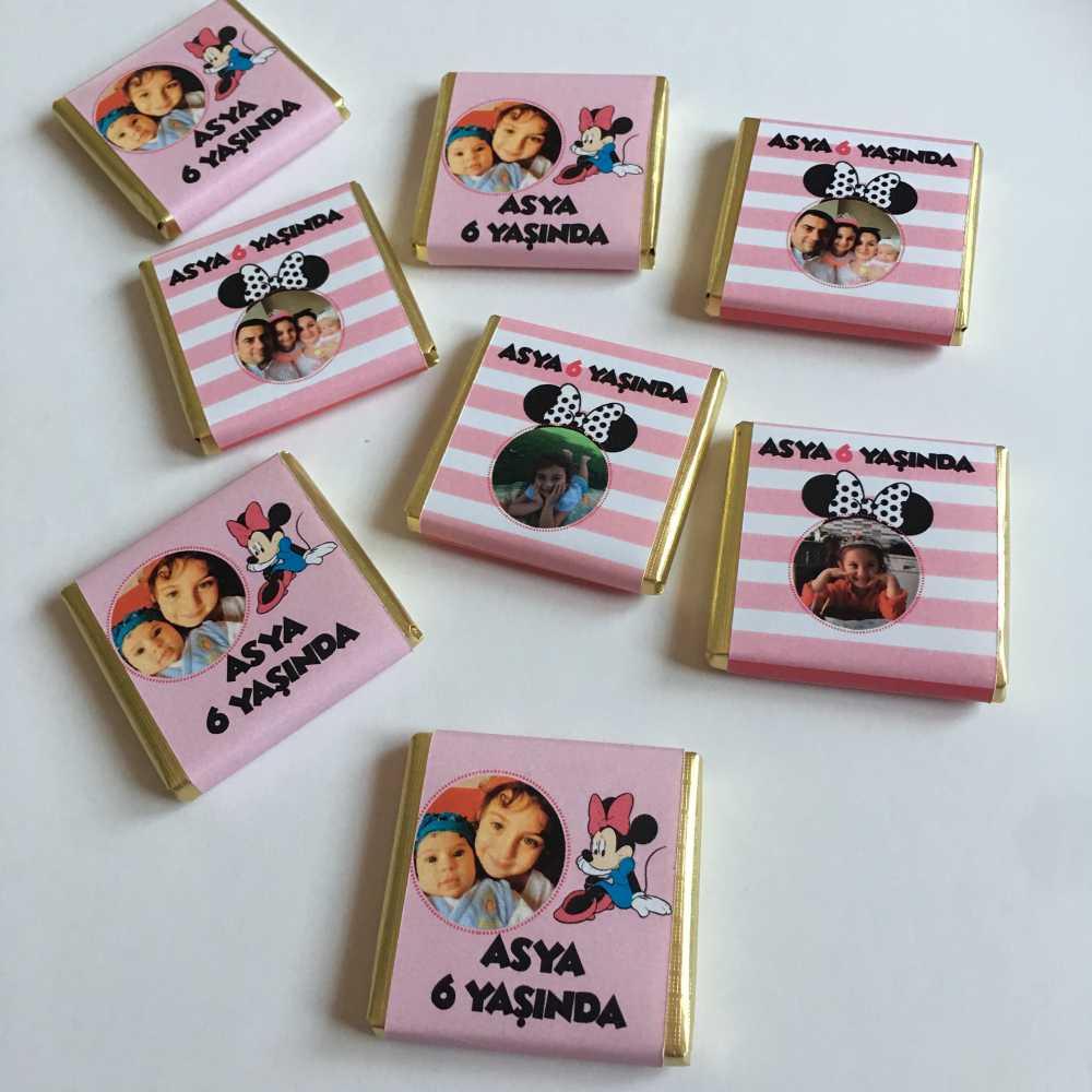 Kişiye Özel Çikolata-Minnie Mouse Konsept